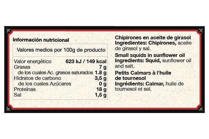 Chipirones-Aceite